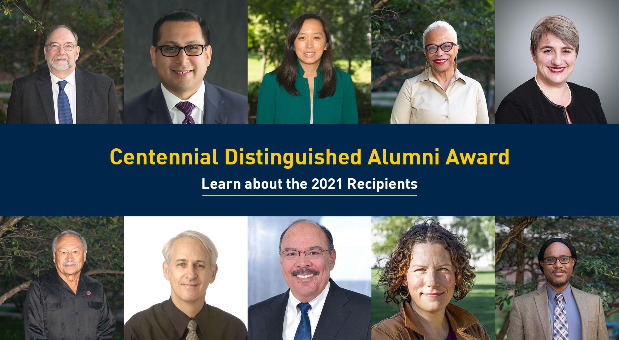 Centennial Distinguished Alumni Award Recipients