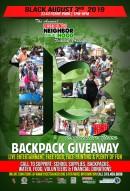 Thirteenth Annual Restoring the Neighborhood Backpack & School Supply Drive