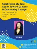 Celebrating Student Action Toward Campus & Community Change