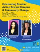 Celebrating Student Action Toward Campus & Community Change