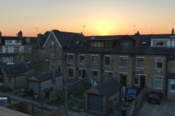 This is the sunset view from the flat that I subleased. It was a five-minute walk away from the University of Bradford.